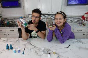 Mister C Snow Globe DIY with Little C