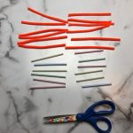 Pipe Cleaners, straws and scissors
