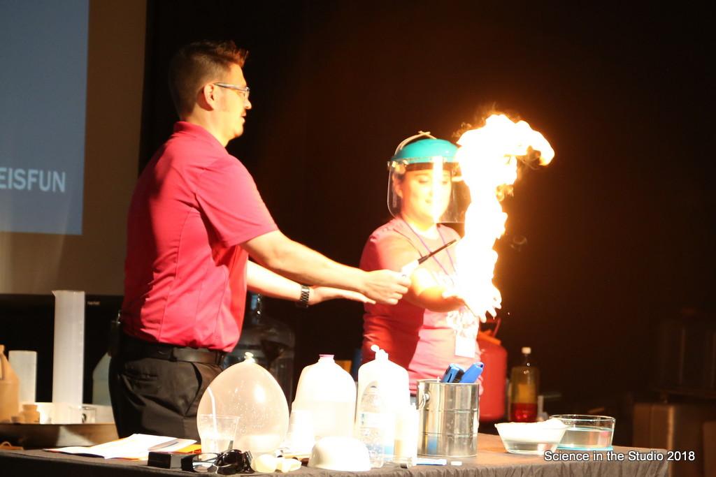 Mister C pouring Liquid Nitrogen